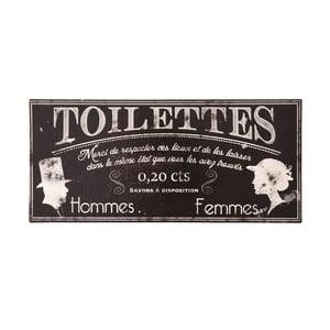 Kovová cedule na toaletu Antic Line Toilettes