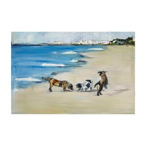 Obraz Marmont Hill Dog's Play, 45 x 30 cm