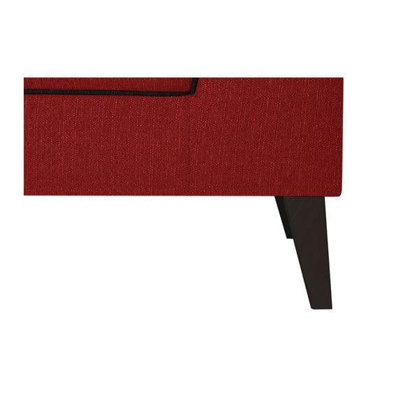 Červená dvoumístná pohovka s detaily v černé barvě Stella Cadente Maison Atalaia Red