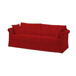 Canapea extensibilă cu 3 locuri 3Casa Roma Antica, roșu