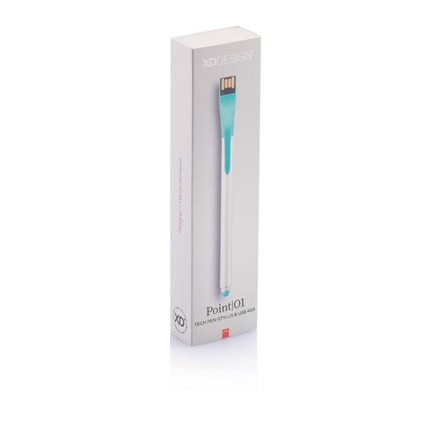 Stylus s USB diskem Point 4GB, zelený