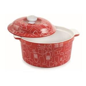 Keramický pekáček s poklopem Red Teglia