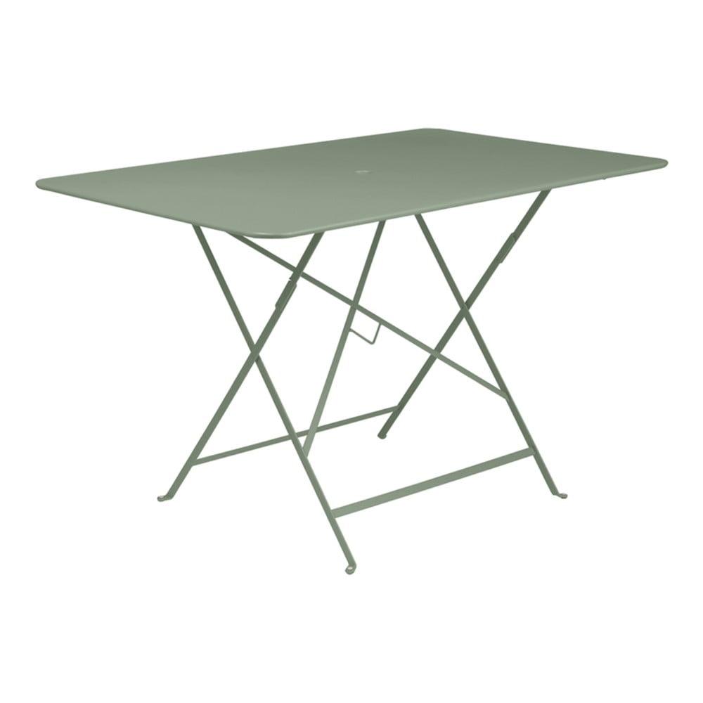 Šedozelený skládací zahradní stolek Fermob Bistro, 117 x 77 cm