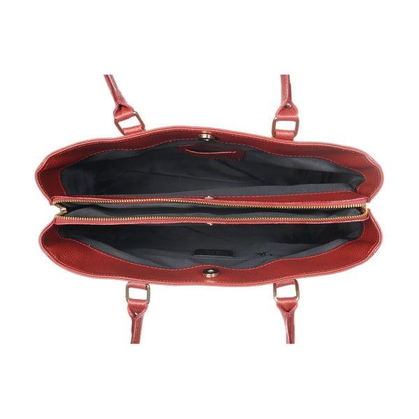 Kožená kabelka Big Mood Red