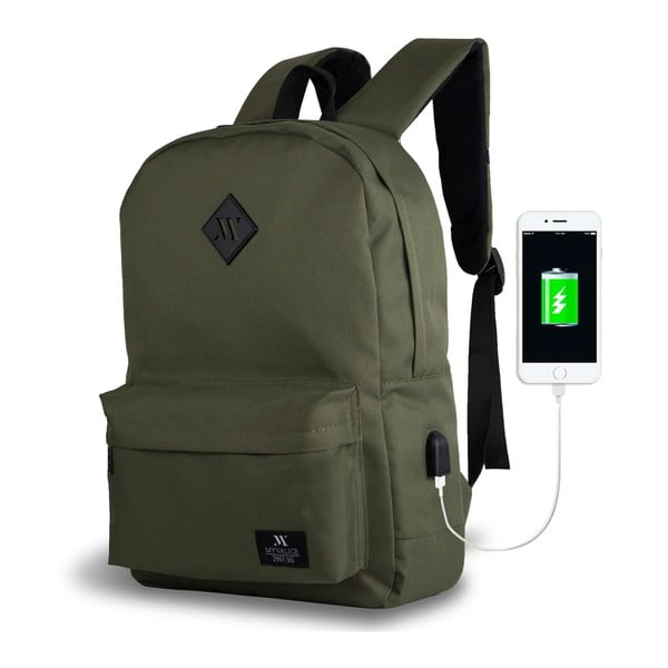 Rucsac cu port USB My Valice SPECTA Smart Bag, verde