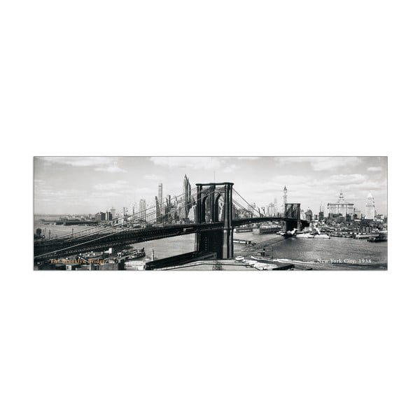 Obraz Anonymous - The Brooklyn Bridge NYC, 1938, 100x33 cm