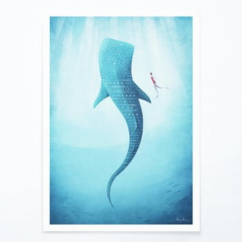 Poster Travelposter Whale Shark, A3 imagine