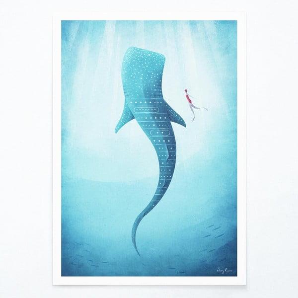 Plakat Travelposter Whale Shark, A2