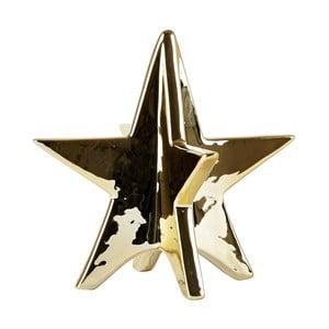Dekorativní hvězda KJ Collection Ceramic Gold, 13 cm