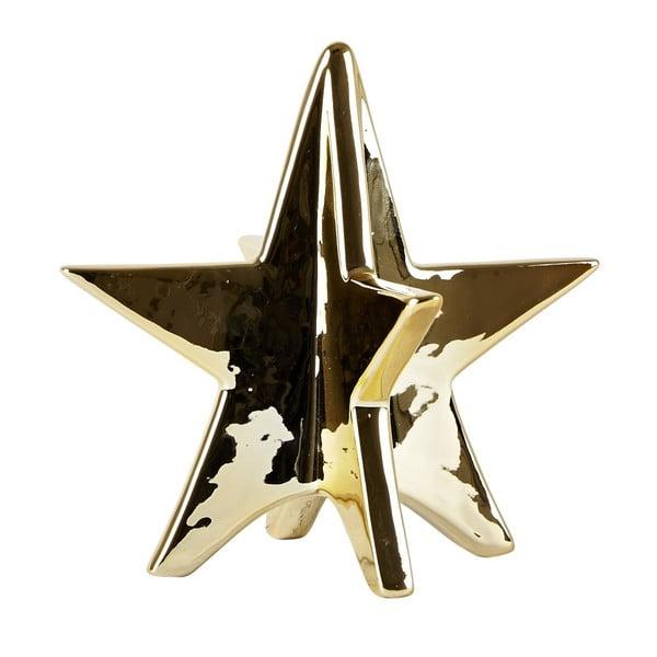 Dekorativní keramická hvězda Villa Collection  Ceramic Gold, 13 cm