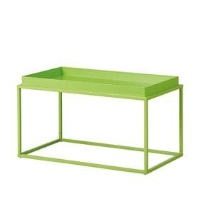 Zelený kovový konferenční stolek Intersil Club NY