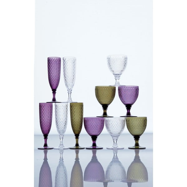 Modrá vinná sklenice Kinto Rosette