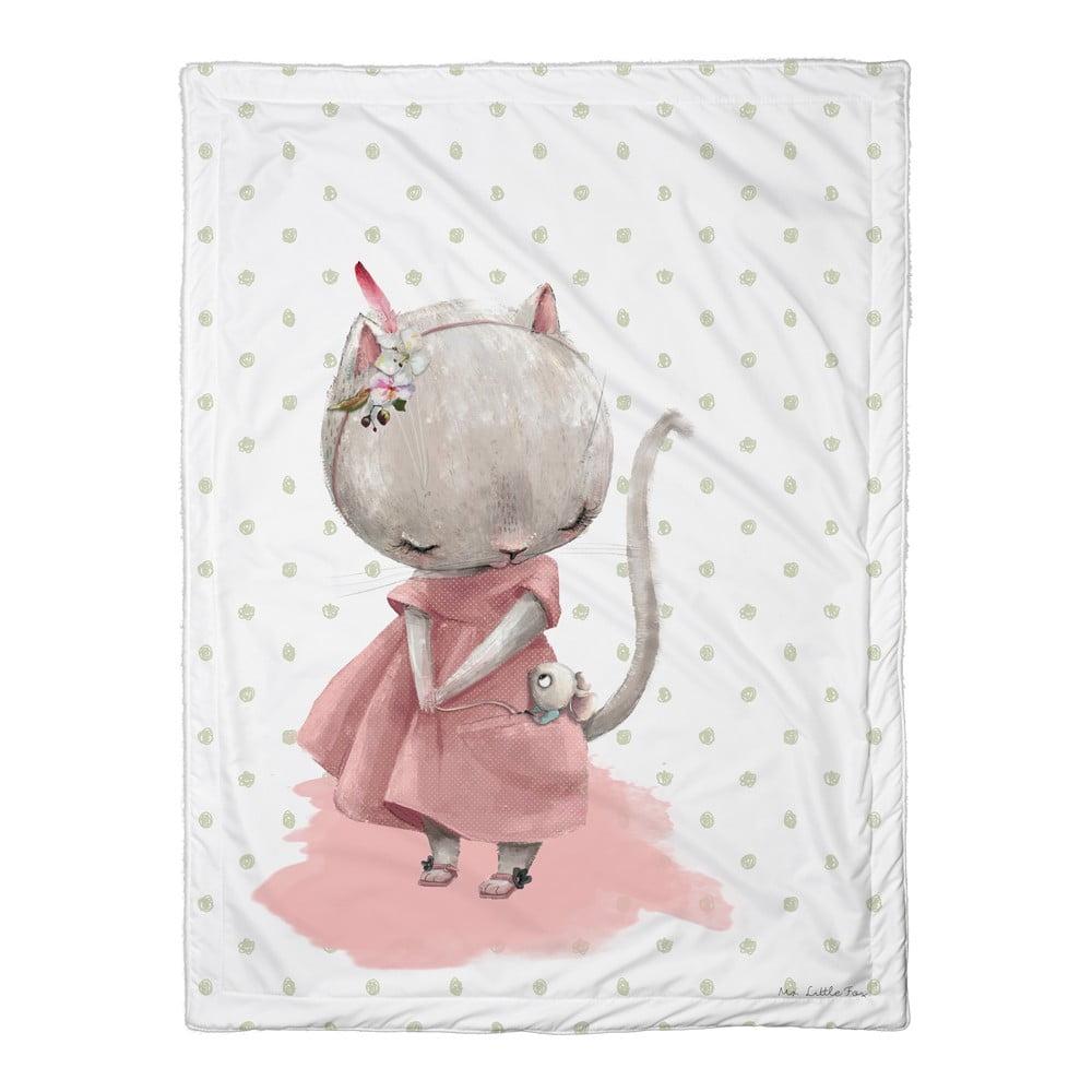 Dětská přikrývka Mr. Little Fox Mouse, 100 x 70 cm