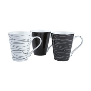 Sada 3 porcelánových hrnků KJ Collection Home, 300 ml