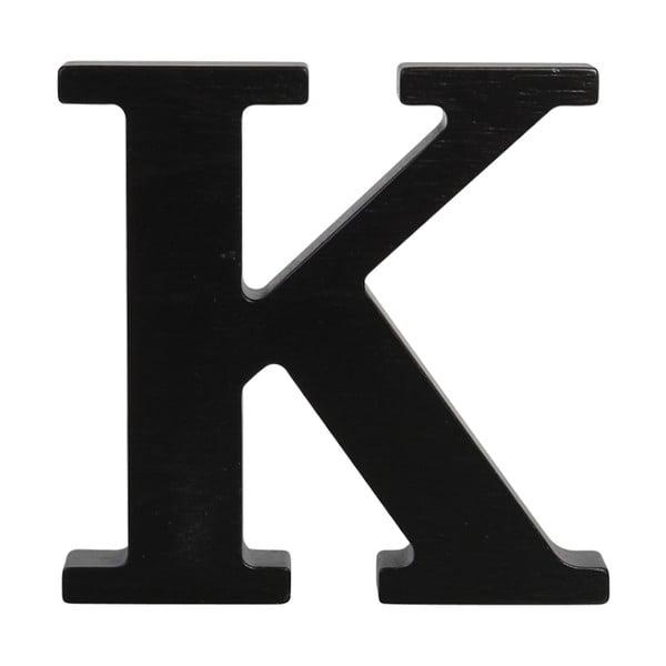 Černé dřevěné písmeno Typoland K