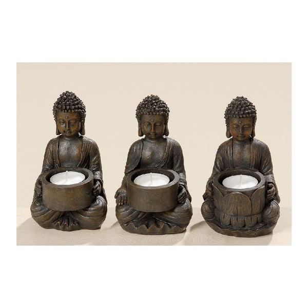 Set 3 svícnů Buddha