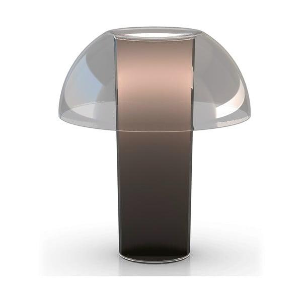Stolní lampa Colette L003TA, transparentní kouřová