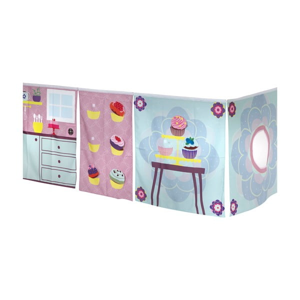 Cup Cake Girl függöny galériás gyerekágyhoz - Manis-h