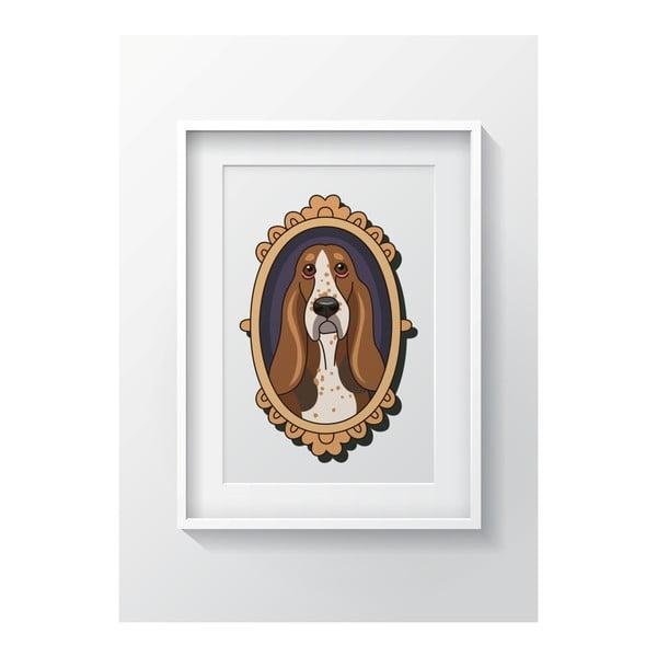 Nástenný obraz OYO Kids Framed Dog, 24 x 29 cm