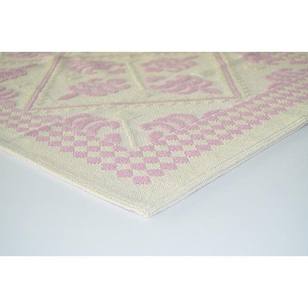 Starorůžový odolný koberec Vitaus Lulu, 100x150cm