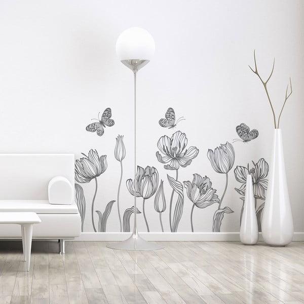 Set autocolante pentru perete Ambiance Bright Tulips