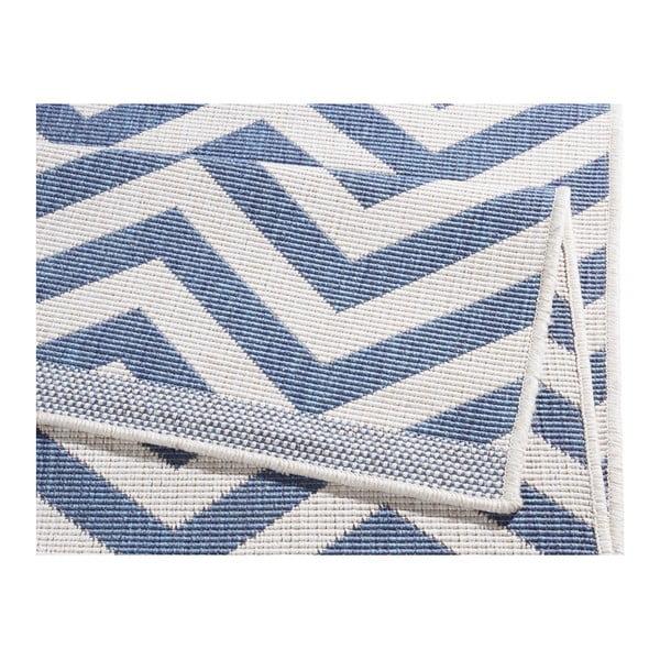 Covor reversibil adecvat interior/exterior Bougari Palma, 170 x 120 cm, albastru-crem