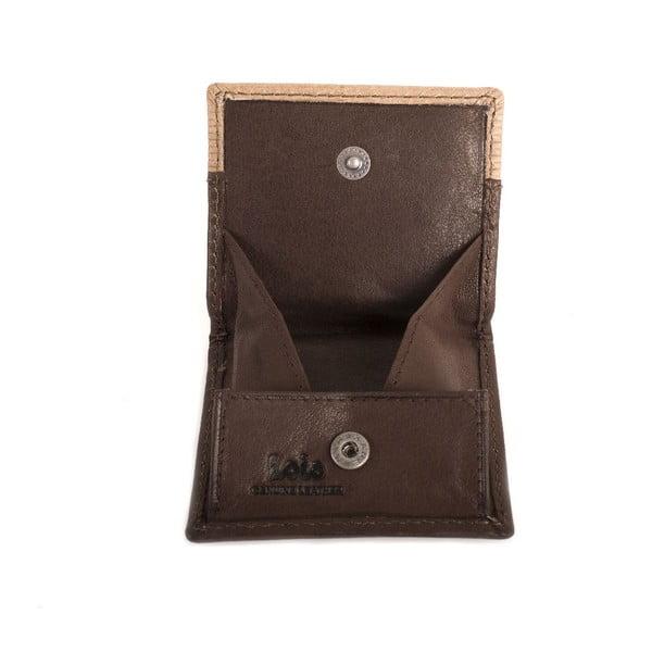 Kožená pěněženka na drobné Lois Brown, 8x7 cm