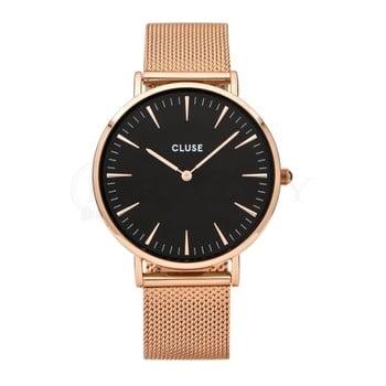 Ceas damă Cluse La Bohéme, roz-auriu imagine