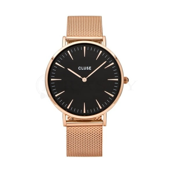 Dámske hodinky vo farbe ružového zlata Cluse La Bohéme