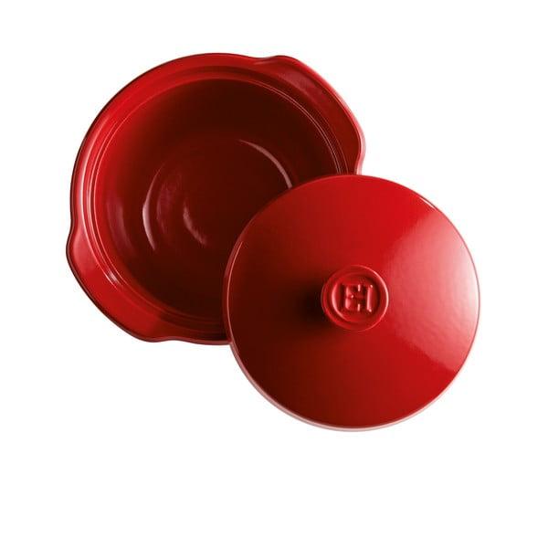 Oală și capac din ceramică Emile Henry, 2 l, roșu