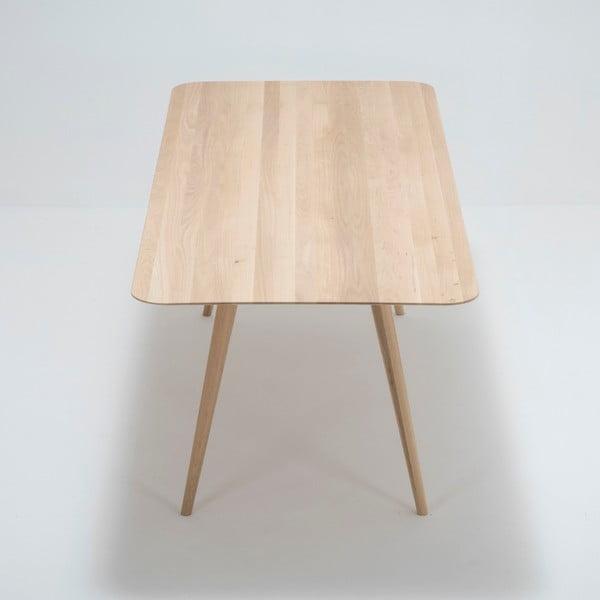 Jídelní stůl z masivního dubového dřeva Gazzda Stafa, 220x90cm