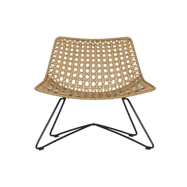Weave rattan fotel, kül- és beltérre - WOOOD