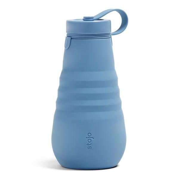 Modrá skládací láhev Stojo Bottle Steel, 590 ml