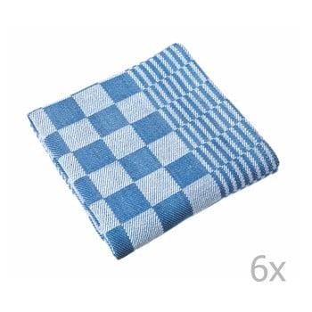 Set 6 prosoape Tiseco Home Studio Mineur, 65 x 65 cm, albastru imagine