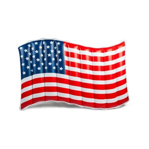 Nafukovací matrace ve tvaru americké vlajky Big Mouth Inc.