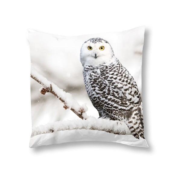 Față de pernă Muller Textiels Snowy Owl, 50 x 50 cm