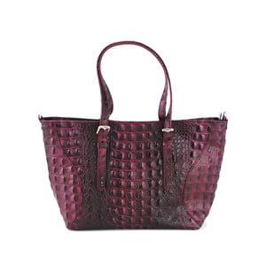 Kožená kabelka Vaso Bassa Rosso