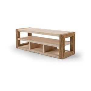 Dřevěný TV stolek se světlými detaily Antique Wood, délka 103cm