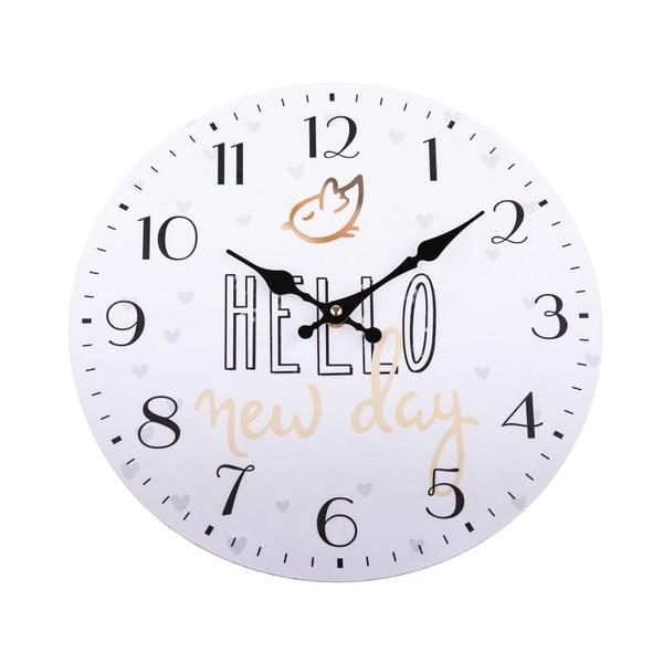 Drevené nástenné hodiny Dakls Hello, ø 34 cm