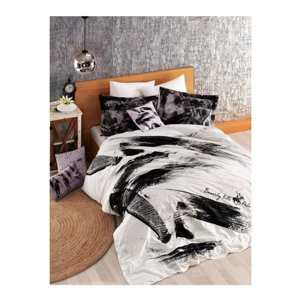 Lenjerie de pat cu cearșaf BHPC Laura, 200 x 220 cm
