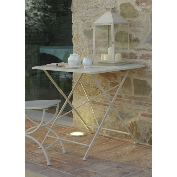 Kovový stolek Garden, slonovinová kost
