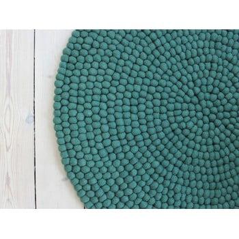 Covor cu bile din lână Wooldot Ball Rugs, ⌀ 140 cm, verde