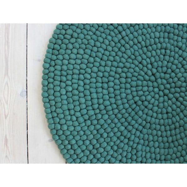 Zelený guľôčkový vlnený koberec Wooldot Ball rugs, ⌀ 120 cm