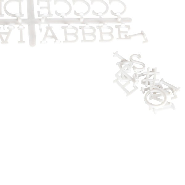Bílá dekorativní tabule s černým rámem Opjet Paris Affichage, 30x30cm