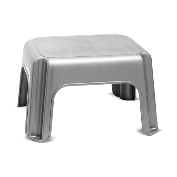Šedá stolička Addis Step Stool Metallic