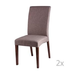 Sada 2 světle šedých jídelních židlí sømcasa Elsa
