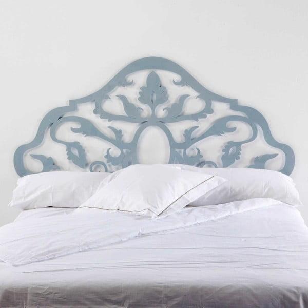 Šedomodré kovové čelo postele Thai Natura Sing, pro šířku 150 cm