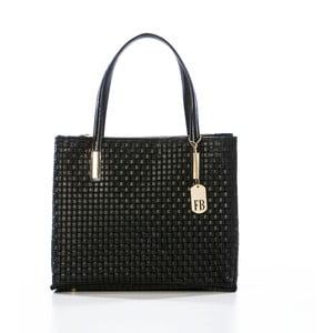 Černá kabelka z pravé kůže Federica Bassi Samia