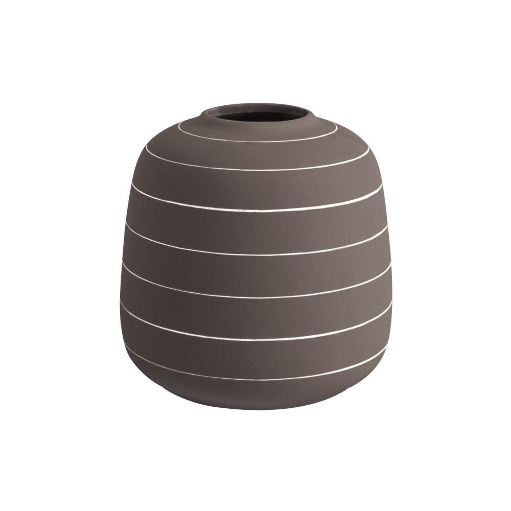 Tmavě hnědá keramická váza PT LIVING Terra, ⌀16,5cm
