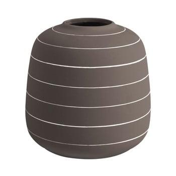 Vază din ceramică PT LIVING Terra, ⌀ 16,5 cm, maro închis